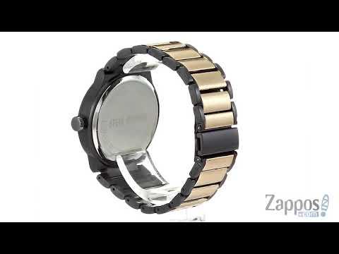Steve Madden Multifunctional Watch With Black ID Plate Chain Bracelet Set SMWS036 SKU: 9291903