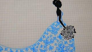 Как нарисовать невесту # 66 / How to draw a bride