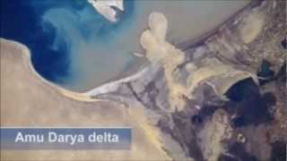 "The shrinking of the Aral Sea -  ""One of the planet"
