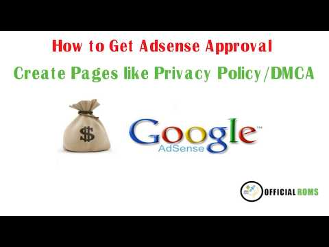 How to Get Adsense Approval -Create Page Like Privacy Policy DMCA -blog tutorial in hindi #Series 2