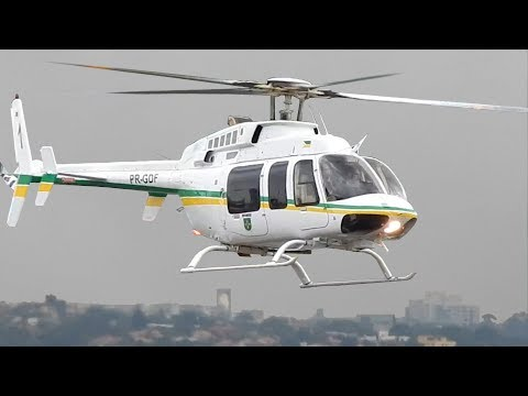 Bell 407 Helicopter Landing Video