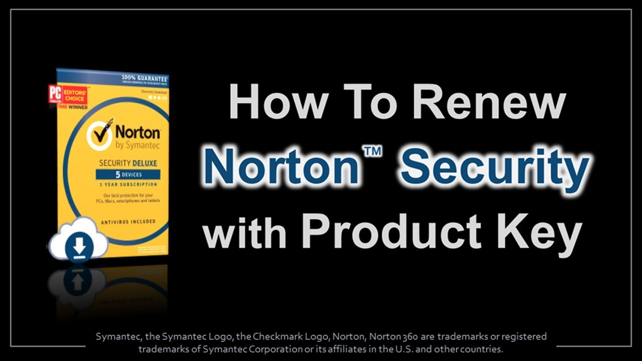 How To Renew Norton Security With Product Key Youtube