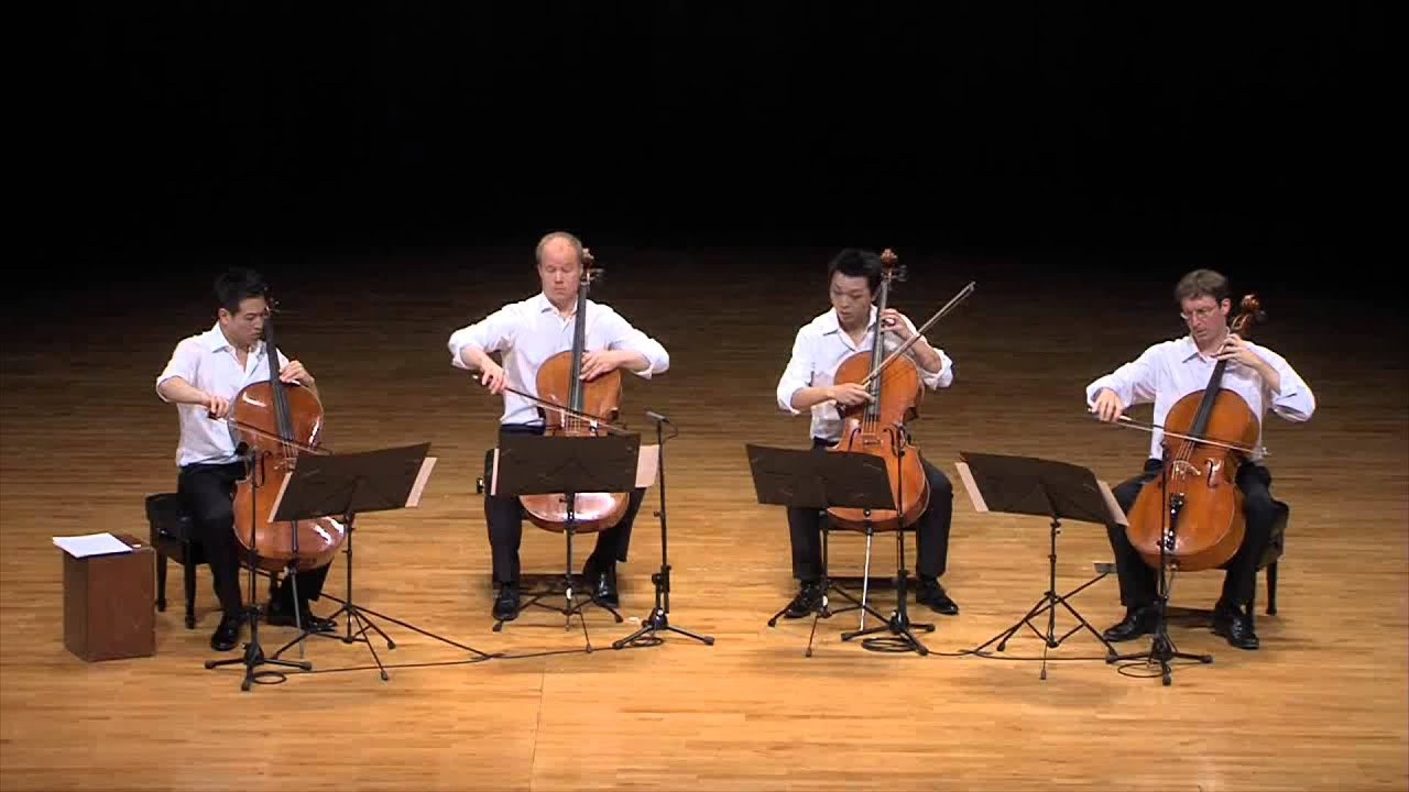 Monteverdi - Pur Ti Miro for cello quartet - The 4cellists