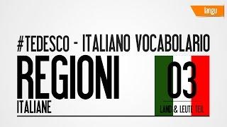 Regioni italiane - tedesco italiano -  Regionen Italiens - deutsch - italienisch - online - gratis