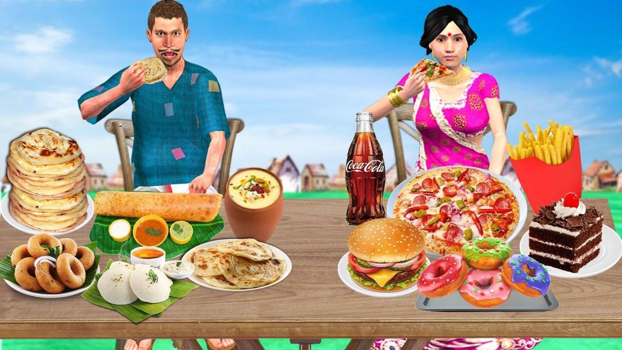 गरीब अमीर का भोजन चुनौती Amir Vs Garib ka Food Challenge Comedy Video हिंदी कहानिया Hindi Kahaniya