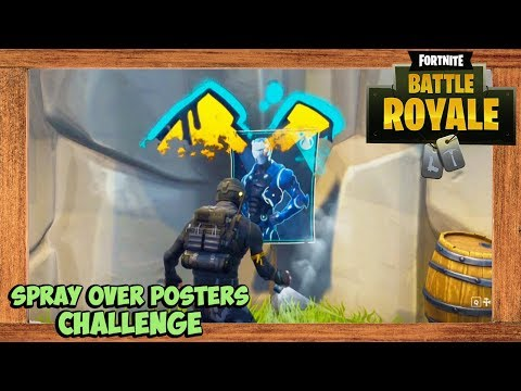 Fortnite Carbide And Omega Posters Locations (Fortnite Season 4 Week 6 Challenge)