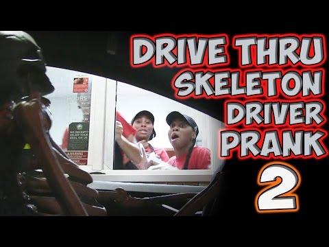 DRIVE THRU SKELETON DRIVER PRANK 2!