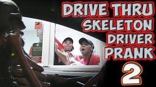 Repeat youtube video DRIVE THRU SKELETON DRIVER PRANK 2!