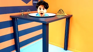 Sado and Mom have fun at the Museum of Illusions