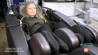 Массажное кресло ZEUS(Кресло можно ставить в 20см от стены; L-образный массажный механизм; Массаж седалищного нерва роликами; Эргон..., 2016-02-21T11:16:25.000Z)