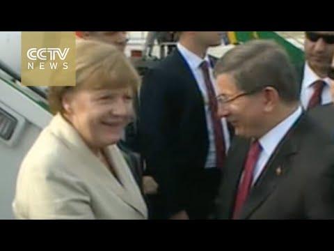 EU leaders arrive in Turkey for migrant meeting