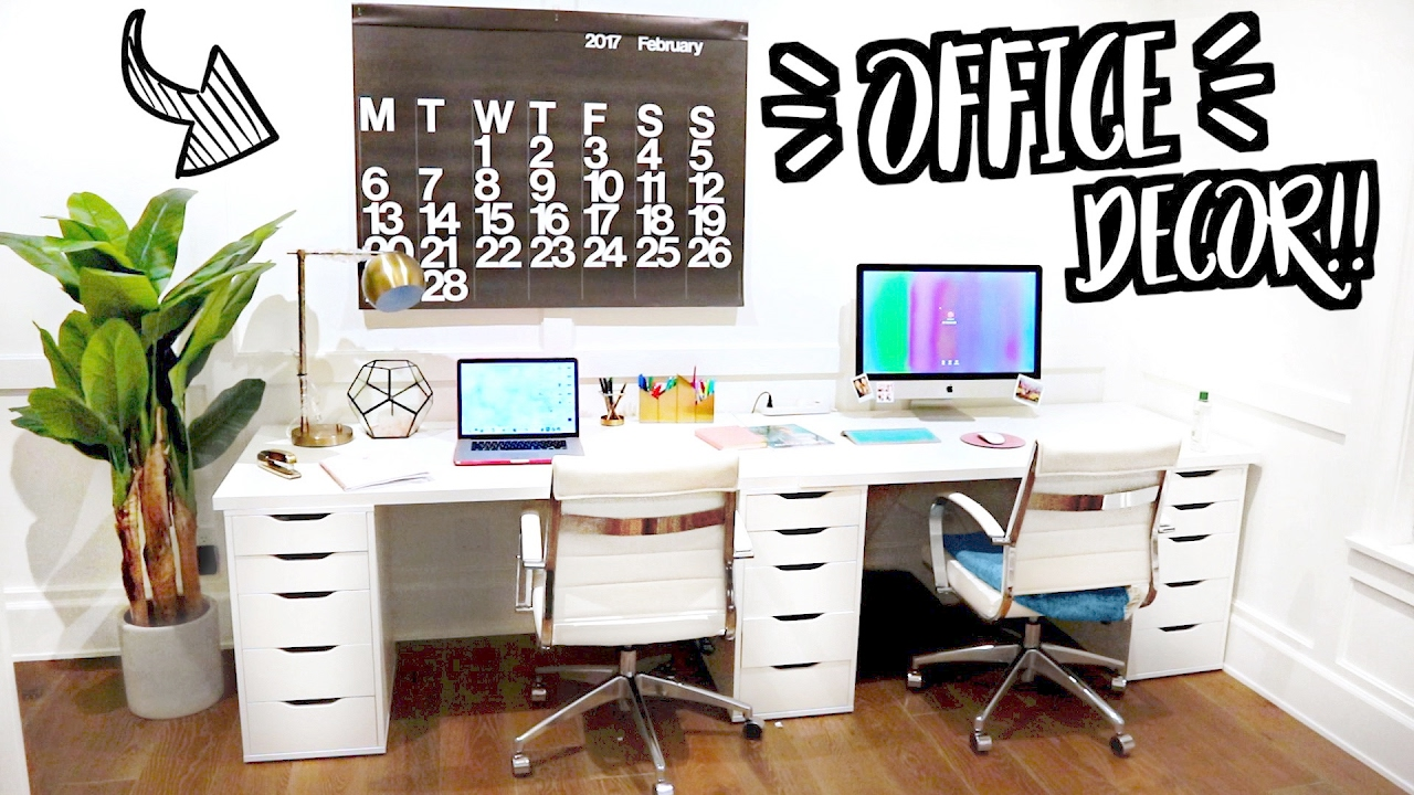 new office room decor moving vlogs youtube. Black Bedroom Furniture Sets. Home Design Ideas