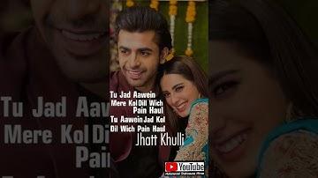 Tu Jatta Jatti Da Crush Whatsapp Status   Romantic Couple Status   Iqra Aziz New Love Song Status