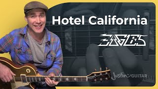 hotel california the eagles intro guitar lesson tutorial bs 624 how to play