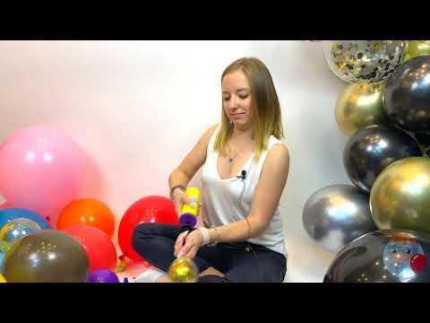 Гирлянда из воздушных шаров видеоурок