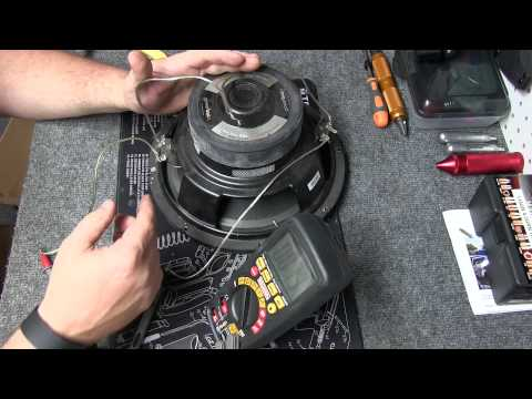 Multimeter : Testing Speaker Ohms + Wiring Subs Series & Parallel