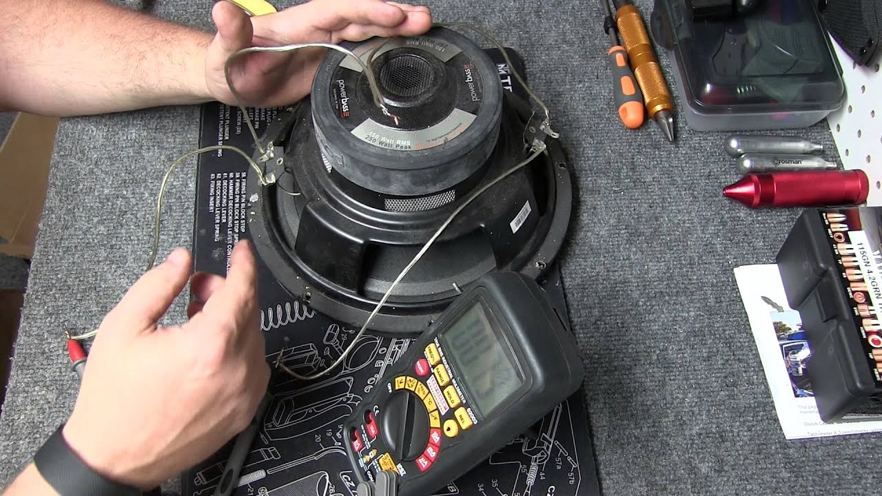 Multimeter Testing Speaker Ohms Wiring Subs Series Parallel Sub