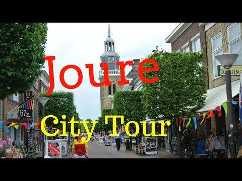 Joure (De Jouwer), Friesland (Fryslân) The Netherlands.. Walking/Cycling (Town Tour) GoPro