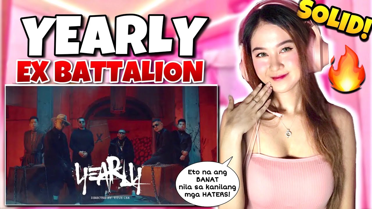 YEARLY - Ex Battalion (Official Music Video) REACTION VIDEO | Wendy Santoceldes