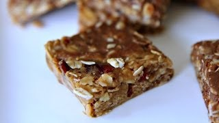 No Bake Granola Bars - Easy Recipe - 3 Ingredients