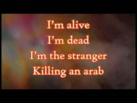 Killing An Arab - The Cure {English Lyrics On Video}