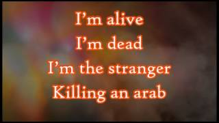Killing An Arab - The Cure {English Lyrics On Video}