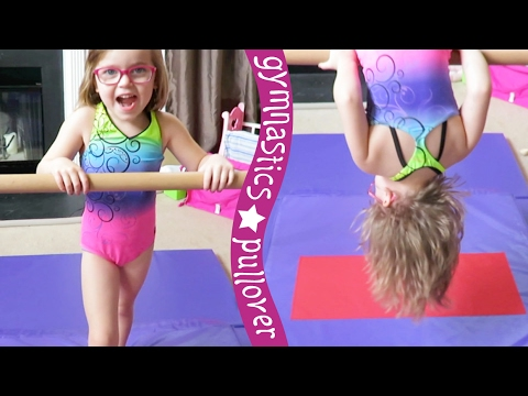 Gymnastics Pullover On Bars ... Almost! | Crazy8Family
