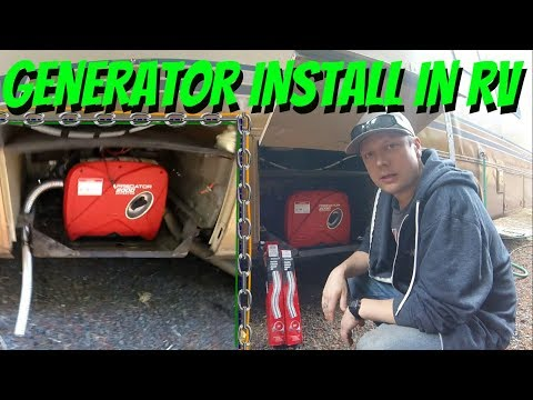 PORTABLE GENERATOR INSTALLED IN RV