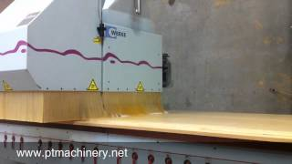 WEEKE BHC 550 Flat Table CNC Router cutting custom cabinet parts