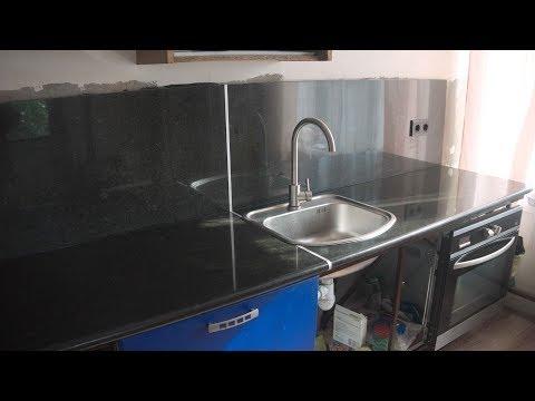 Кухонная мебель со столешницей из гранита своими руками