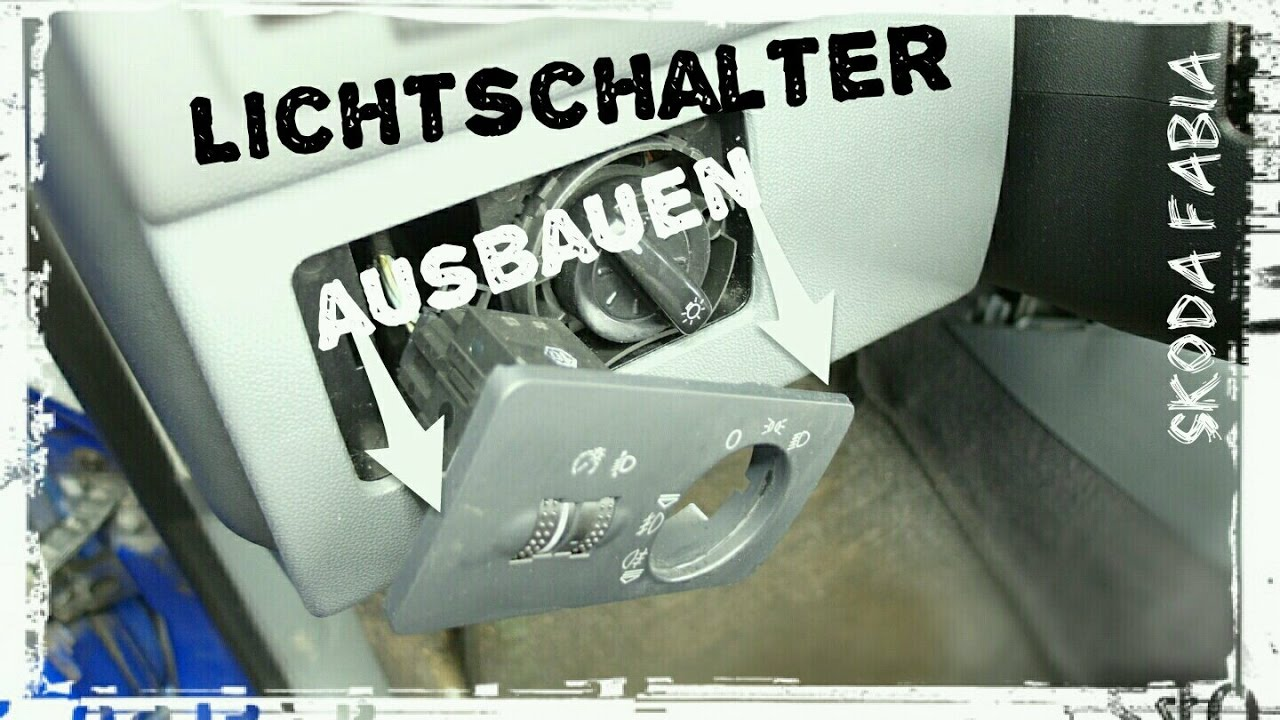 Lichtschalter ausbauen VW Audi Seat Skoda Fabia und Verkleidung ...