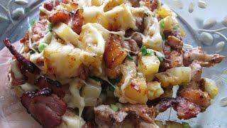 Запеченный картофель в остром соусе  .