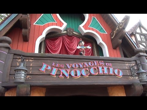Les Voyages de Pinocchio at Disneyland Paris - Full Ride-Through Experience HD Oct 2014