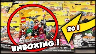 Opening 20 LEGO Batman Movie Mystery Minifigure Bags! Great Pulls!