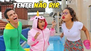 TENTE NÃO RIR 2! - QUEM PERDER CAI NA PISCINA - ft. Juliana Baltar