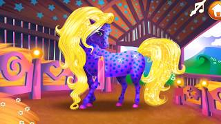 Игры для девочек, ухаживаем за лошадкой