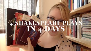Long Weekend Reading Vlog (4 Shakespeare Plays in 4 Days)