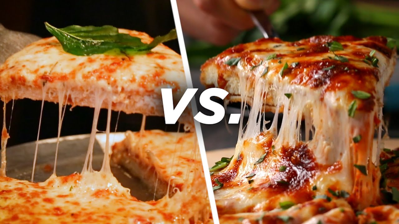 Restaurant Vs Homemade Chicken Parm Pizza Youtube
