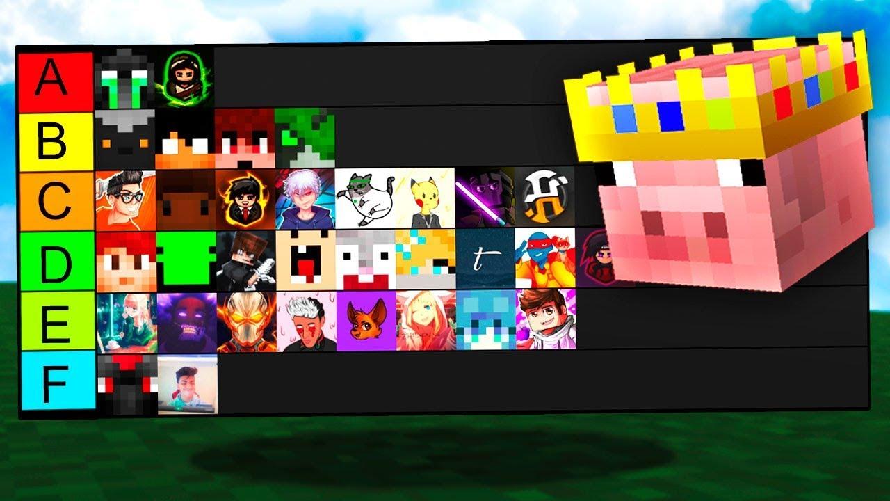 The Minecraft YouTuber Tier List