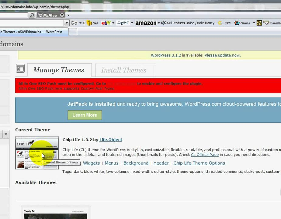 Wordpress - How To Install A Custom Wordpress Theme - YouTube