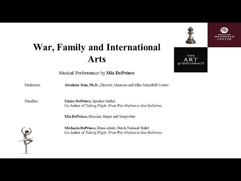War, Family and International Arts: The Art of Diplomacy 2016