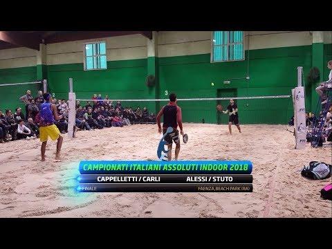 Cappelletti/Carli Vs Alessi/Stuto   Full Match   Finale Campionati Italiani Indoor 2018