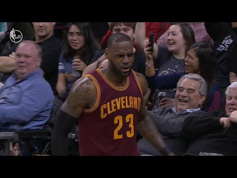 Minnesota Timberwolves vs. Cleveland Cavaliers - LeBron James Acrobatic Layup 02.01.17