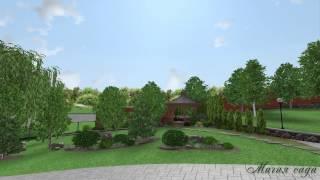 3D Визуализация проекта ландшафтного дизайна HD(Ландшафтное проектирование производилось на участке неправильной формы со сложным рельефом и значительны..., 2015-02-17T13:18:50.000Z)