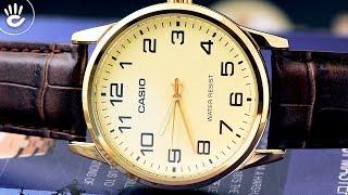 Review đồng hồ Casio LTP-V001GL-9BUDF mặt số đơn giản 3 kim size nhỏ 25mm kiểu dáng thanh mảnh