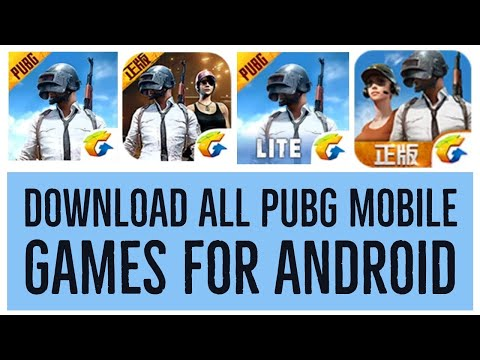 Download All PUBG Mobile Games For Android -  Beta, Lite, TIMI Studio, Chinese, Lightspeed & Quantum