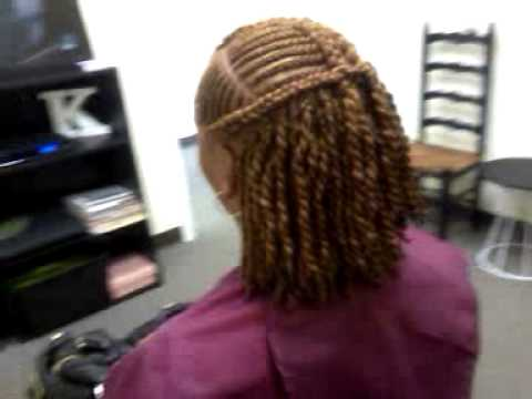 Natural Style With Kinky Twist Amp Cornrows Youtube