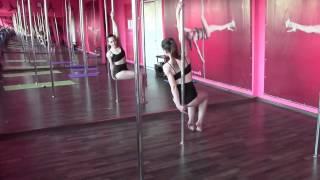 Танец на пилоне начальный уровень простой тренировка