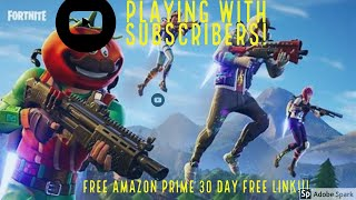 PS4 Fortnite Live Stream - Fast Console Builder - Playing w/subs! - 3000+ Kills - FREE Amazon Prime!