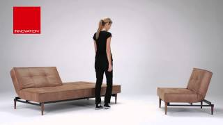Splitback Slaapbank En Splitback Chair 'wood' Van Innovation